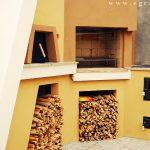 19 gratar si cuptor pe lemne