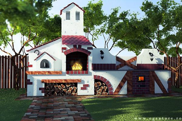 Gratare de gradina din caramida moderne si clasice for Gratare de gradina